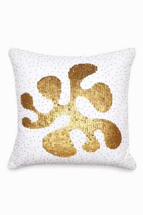 White Talitha Amoeba Throw Pillow