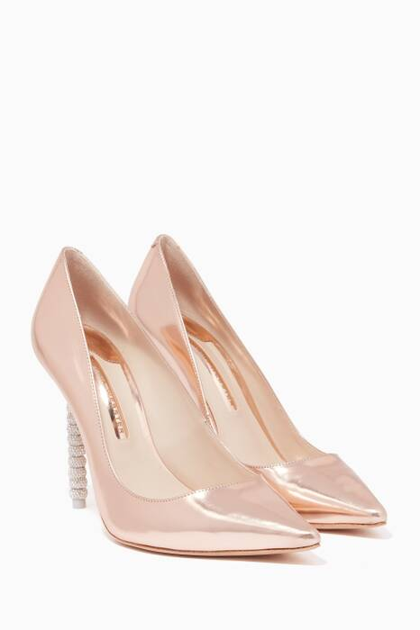 Rose-Gold Coco Crystal Pumps