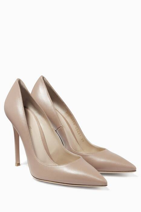 Nude Gianvito Leather Pumps