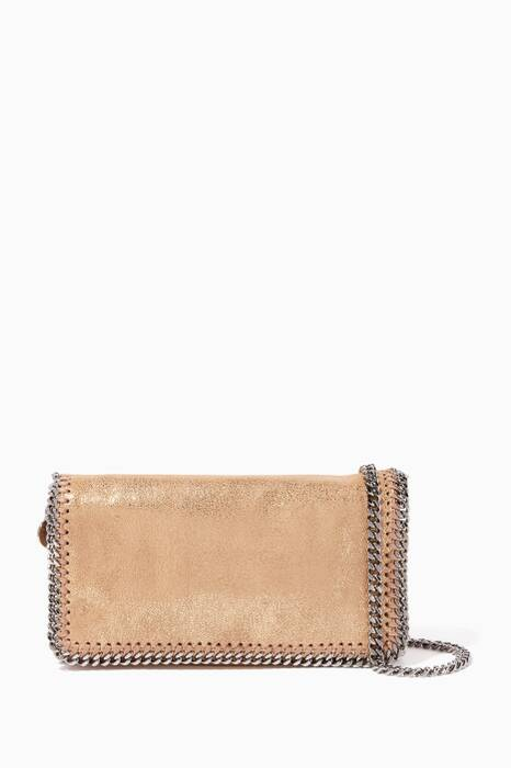Gold Falabella Shiny Dotted Cross-Body Bag