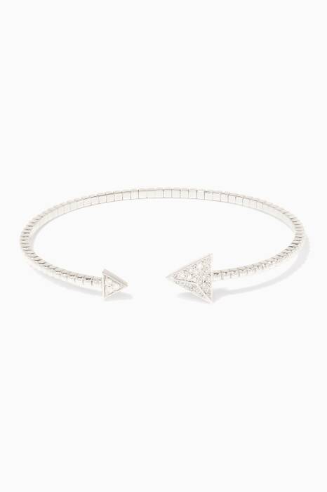 White-Gold Astrid Triangle Bracelet
