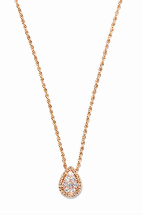 Rose-Gold Serpent Bohème Pendant Necklace