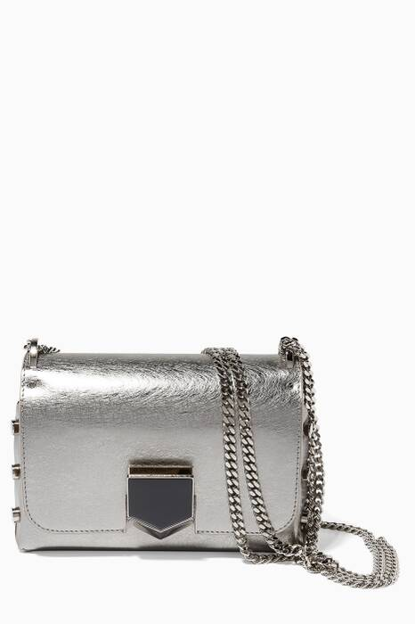 Vintage Silver Lockett Petite Leather Shoulder Bag
