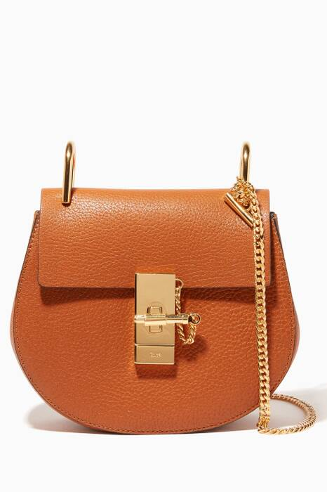 Caramel Mini Drew Shoulder Bag