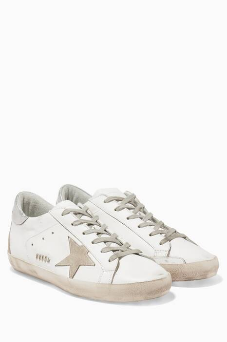 White Low-Top Superstar Sneakers