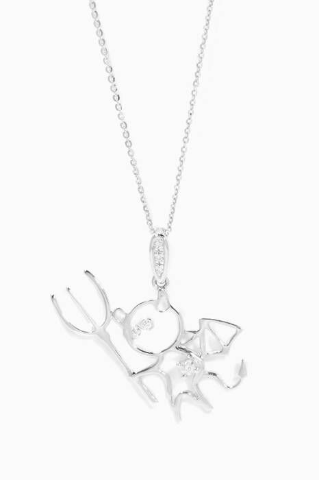 White-Gold & Diamonds Little Devil Necklace