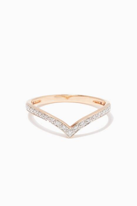 Rose-Gold & Diamond Large Wise Ring
