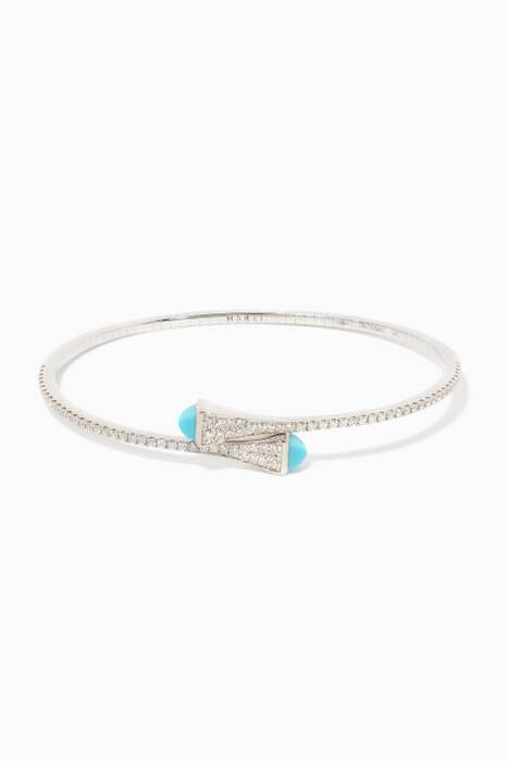 White-Gold Cleo Turquoise Bangle