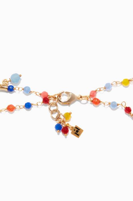Honululu Multi-Colour Quartz And Brass Necklace