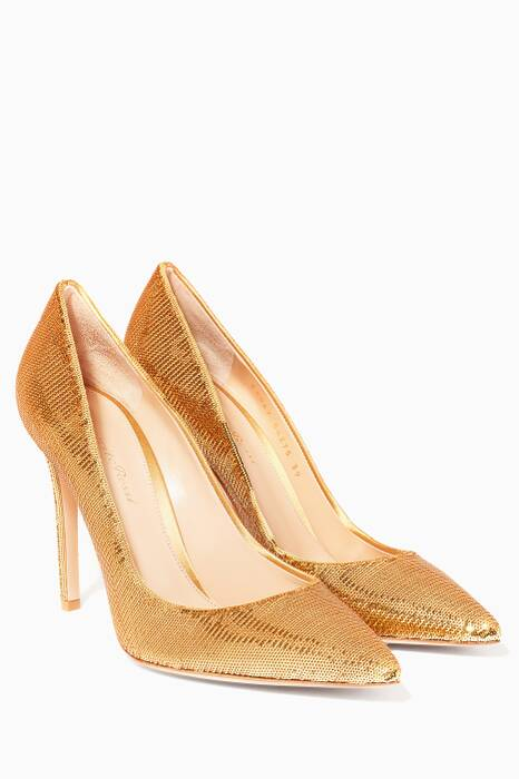Gold Sequin Pumps