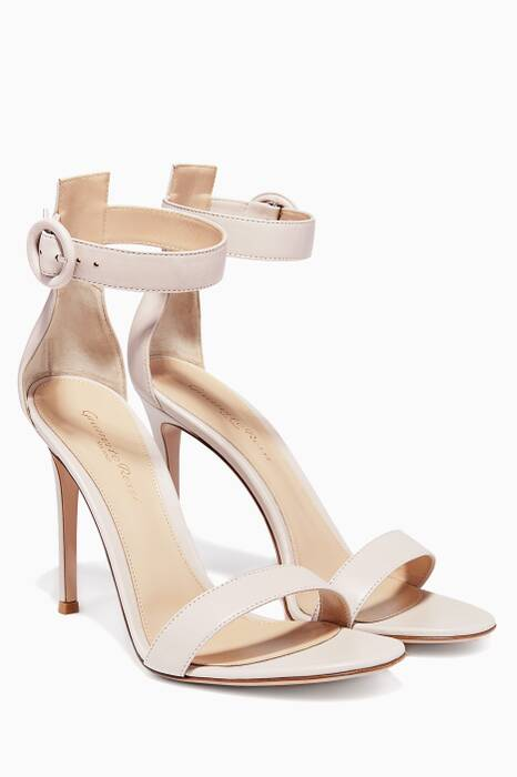 Light-Pastel Pink Portofino Leather Sandal