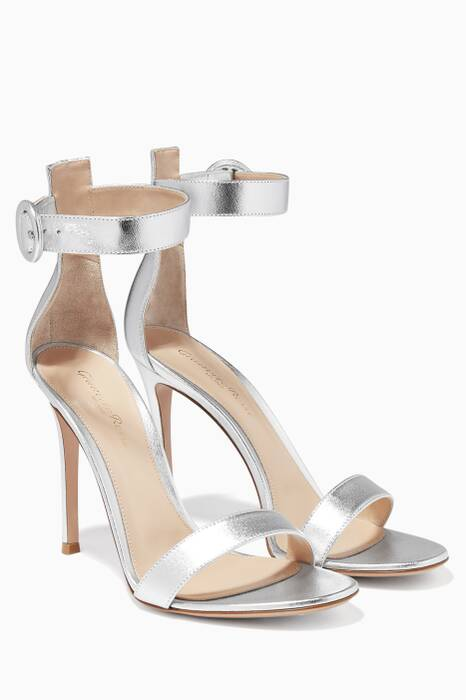 Portofino Metallic Leather Sandal