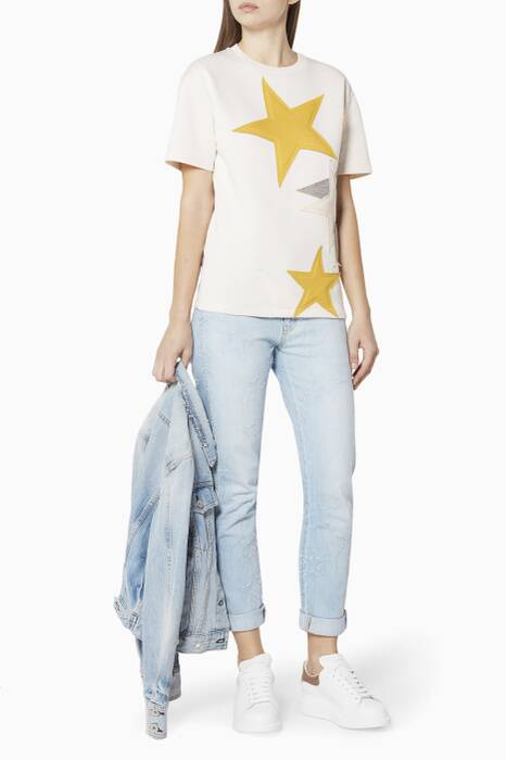 Off-White Star Appliqué Top