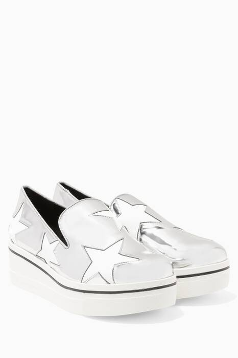 Metallic Pink Binx Star Loafers
