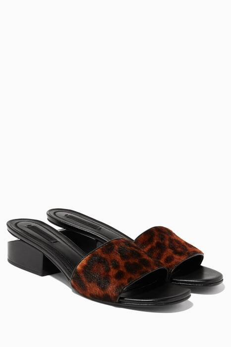 Leopard-Print Hollie Sandals