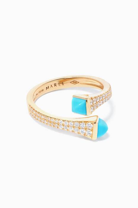 Yellow-Gold Cleo Turquoise Ring