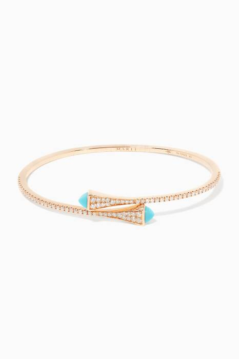 Rose-Gold Cleo Turquoise Bangle