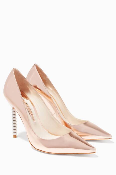 Coco Crystal-Embellished Rose-Gold Pumps