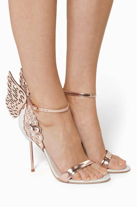 Evangeline White Satin Sandals