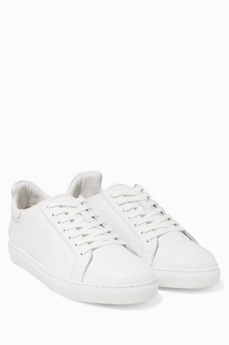 White Leather Bibi Low Top Sneakers