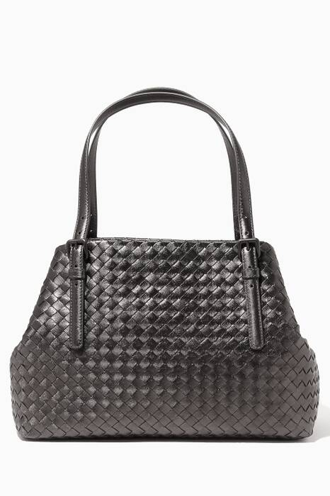 Black Intrecciato Medium Tote Bag