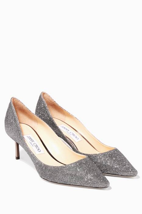 Grey Glitter Pumps