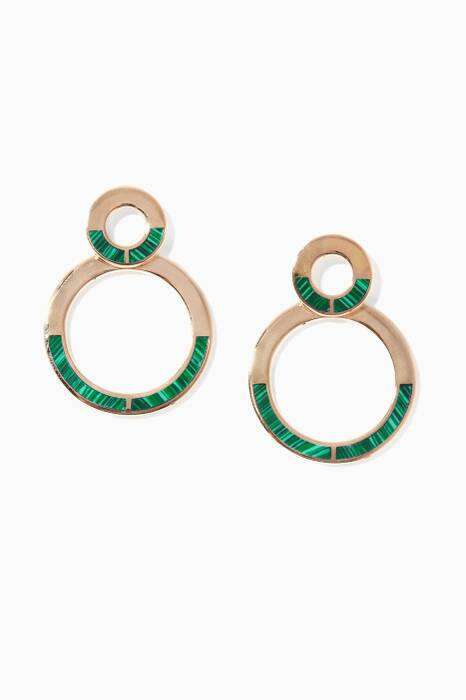 Quarter Drop Green Earrings