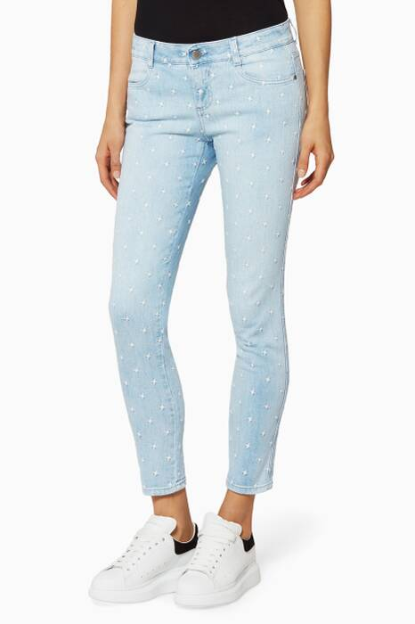Blue Star Embroidered Jeans