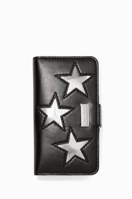 Black And Silver Star Phone® 6 Cover