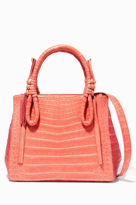 Pink Knot-Handle Small Tote Bag