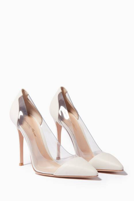 Off-White Leather Plexi Pumps