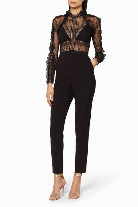 Black Hall Jumpsuit