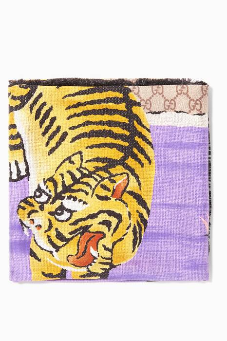 Purple Bengal Silk Scarf