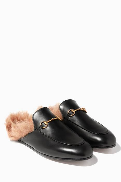 Black Princetown Loafers