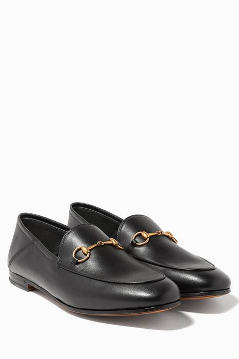 Black Brixton Leather Loafers