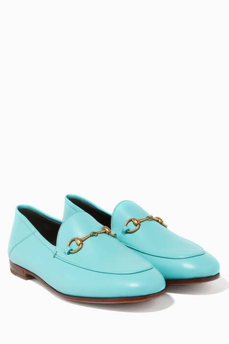 Light-Blue Brixton Leather Loafers