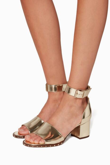 Metallic Gold Soul Sandals