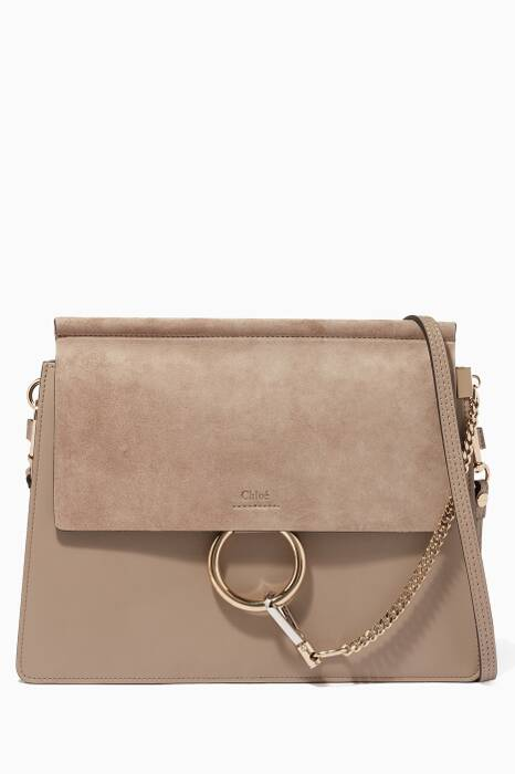 Mott Grey Medium Faye Shoulder Bag