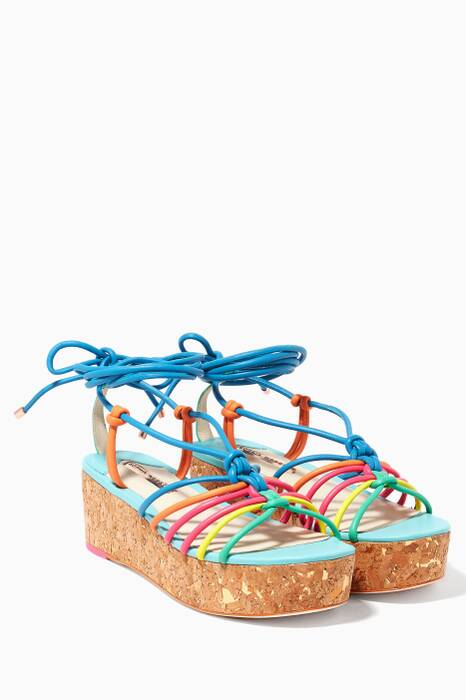 Blue Copacabana Flatform Sandals