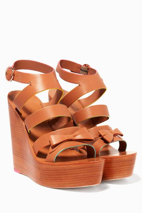 Brown Samara Wedge Sandals