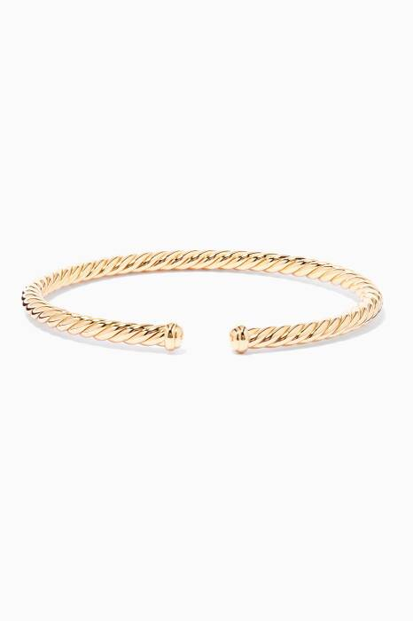 18kt Yellow-Gold Spiral Cable Bracelet
