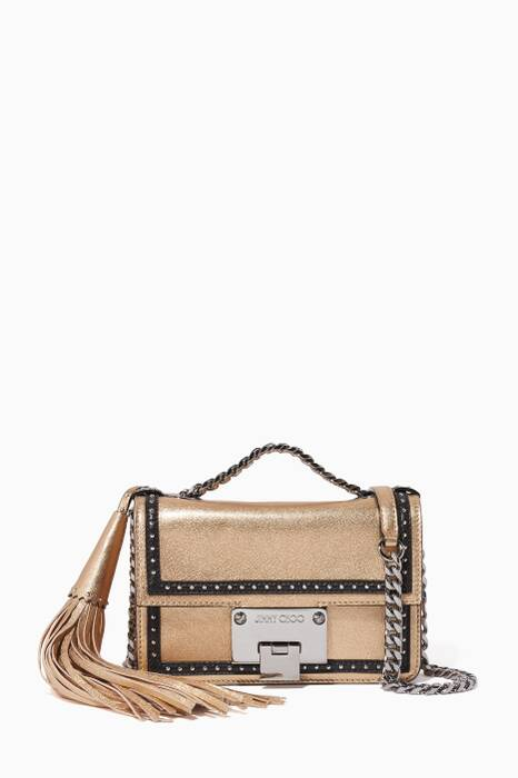 Beige Mini Rebel Soft Leather Shoulder Bag