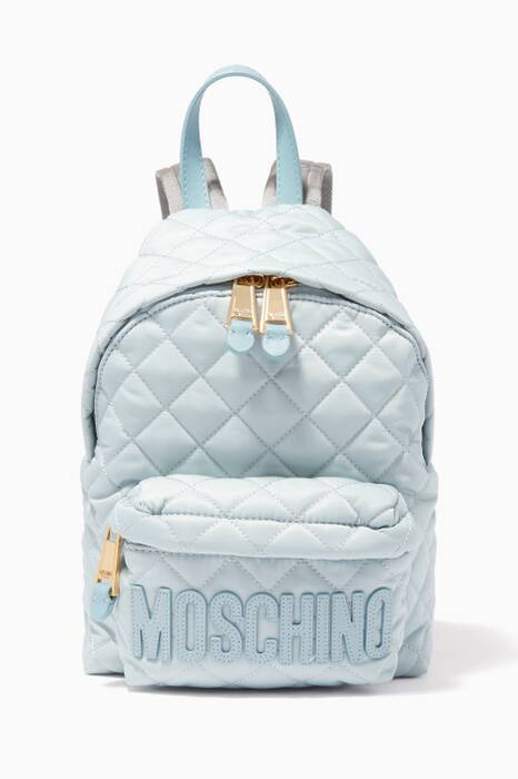 Pastel-Blue Small Nylon Backpack
