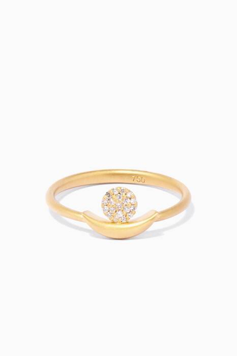 Yellow-Gold & Diamond Circle Ring