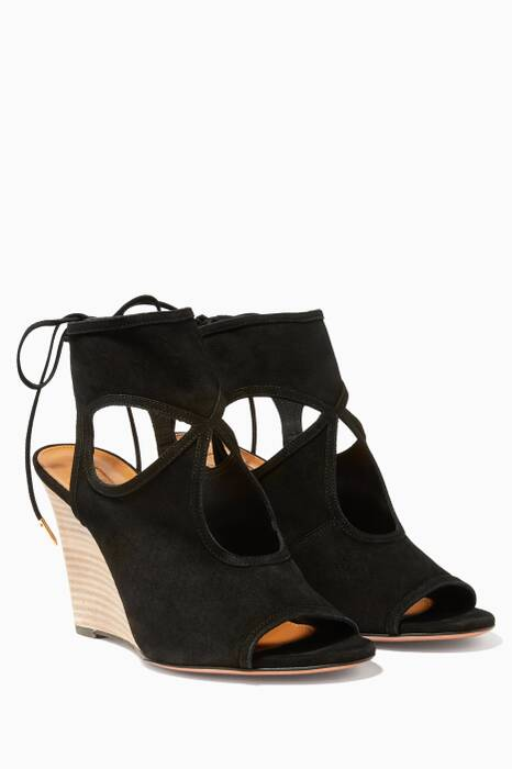 Black Sexy Thing Wedges