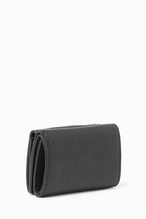Black Mini Met Edge Wallet