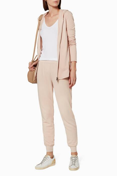 Blush French Terry Hooded Jacket