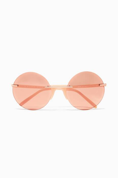 Red Zaire Round-Frame Sunglasses