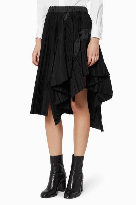 Black Classic Shirting Skirt