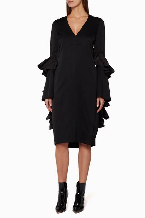 Black Molotov Neck Dress
